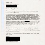El Paso County Sheriff's Department Termination Letter