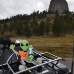 Mr. Kalupa and his new friend, enjoy Wyoming's, Devils Tower tourist attraction.