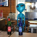 "What a better place to host an Alien Wine tasting party than at the ""Rush-No-More"" campground during the Sturgis Rally. Served up was Cosmic Red and Galactic White wine."